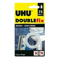 UHU Doppel Band Double Sided 1.5mx19mm BL Pack Art