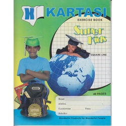 Exercise books 48 pages Kartasi Brand Square Manila Cover