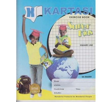 Exercise books 96 pages Kartasi Brand 8x10 Single Line Manila Cover