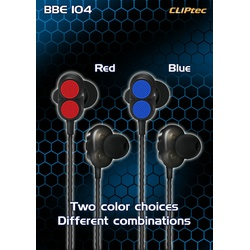 Cliptec AirSonic Dual Dynmc Bluetooth Earphone BBE-104