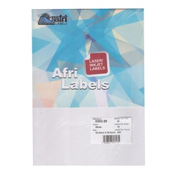 Afri Laser Labels K002-25