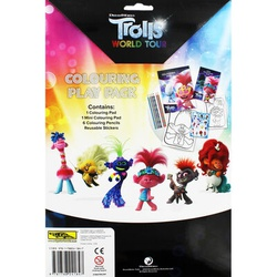 Dream works Trolls World tour Colouring play pack (ALLG)