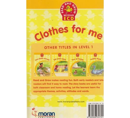 Read and Grow Moran ECD: Clothes for Me 1