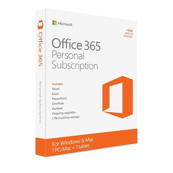 Microsoft Office 365 Personal Subscription (1 Year Subscription 1 PC + 1 Tablet)