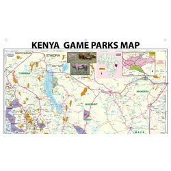Kenya Game Parks (Wall) Map - Comprehensive  (PVC-Canvas) Nairobi Map Service Limited