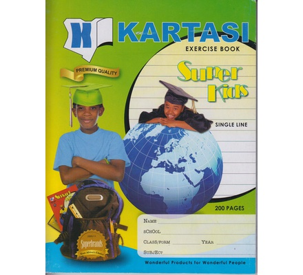 Exercise books 200 pages Kartasi Brand Single Line Manila Cover