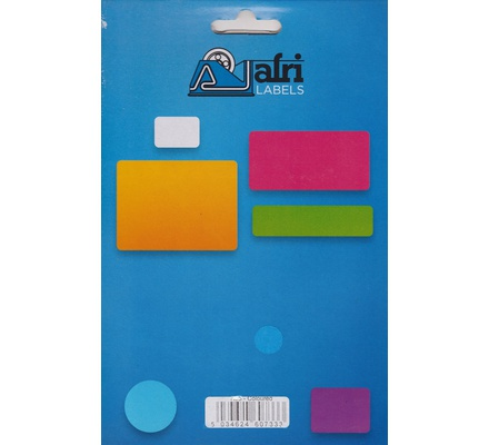 Afri Label coloured - Flourescent K38 Red