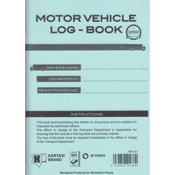 Motor Vehicle Log -Book Ref251