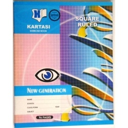 Exercise books 96 pages Kartasi Brand 8x10 Square Manila Cover