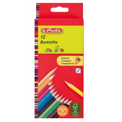 Herlitz Colour pencils triangular 12s 10412021