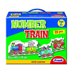 Number Train, 22Pcs Puzzle Game Frank 10109