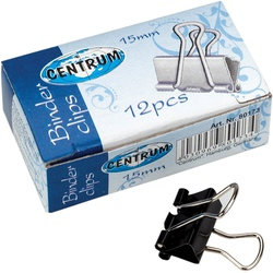 Centrum Binder Clips 15mm 12s 80173