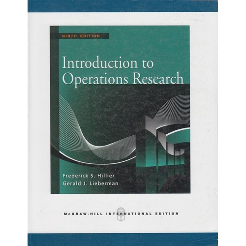 introduction to operations research Operations research an introduction ninth edition hamdy a taha university of arkansas, fayettevilie boston columbus indianapolis new york san francisco upper saddle river.