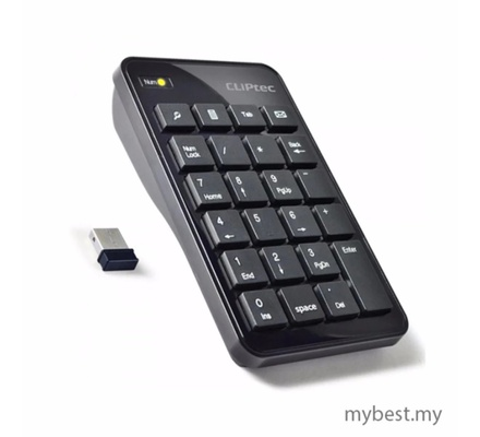 Cliptec Air Rapid Usb 2.4Ghz Numeric Keypad RZK222