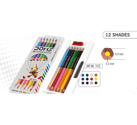 Doms Bi-Colour Pencils 12s F/S 7172