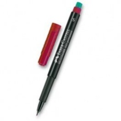 Faber Castell OHP Pen Red S 152321 Permanent