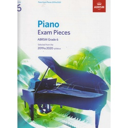 Piano Exam Pieces ABRSM Grade 6 2019 and 2020