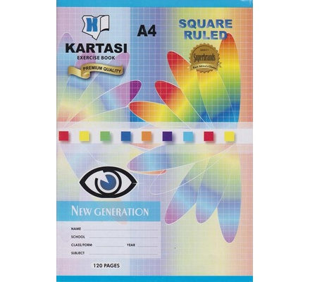 Exercise books 120pages Kartasi Brand A4 Square Manila Cover