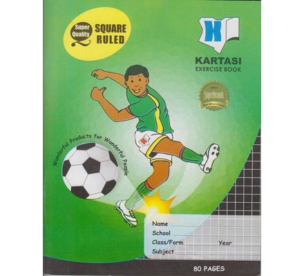 Exercise books 80 pages Kartasi Brand Square Manila Cover