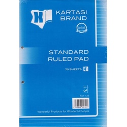 Standard Ruled Pad A4 Ref:126
