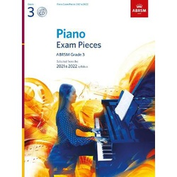 Piano Exam Pieces 2021 & 2022, ABRSM Grade 3, with CD: Selected from the 2021 & 2022 syllabus