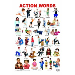Action Words Chart Laminated DL