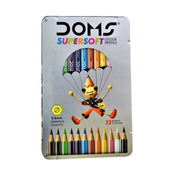 Doms Colour Pencils Supersoft 12s tin set 7204