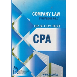 Company Law CPA Paper no. 7 BR Study Text CPA