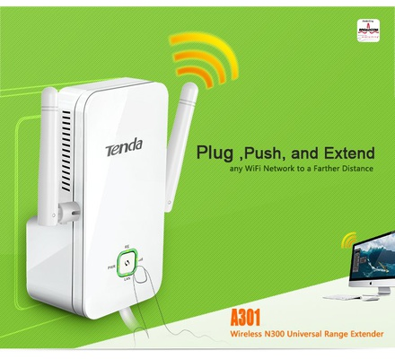 Tenda Wireless N300 Universal Range Extender A301