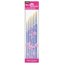 Pebeo Brush 951150 6s Poly Yellow round