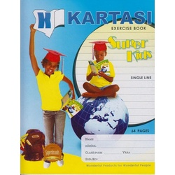 Exercise books 64 pages Kartasi Brand Single Line Manila Cover