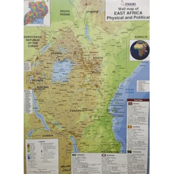 Moran Wall Map of East Africa Political/Physical