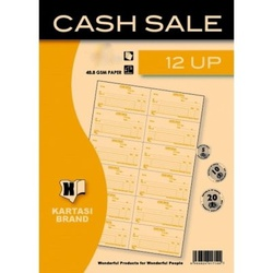 Cash Sale Book with 12 Up 25s Njema Ref329