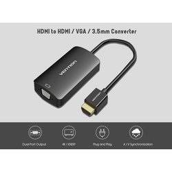 Vention HDMI to HDMI +VGA with Audio VEN-AFEBB