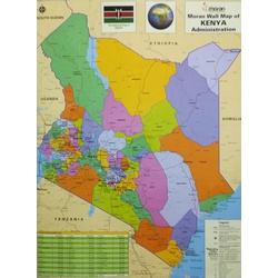 Moran Wall Map of Kenya Physical & Administrative