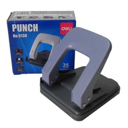 Deli paper punch 35 sheets 2Asst col Ref0138