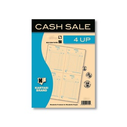 Cash Sale Book with 4 Up 25s Njema Ref330