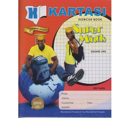 Exercise books 200pages Kartasi Brand Square Manila Cover