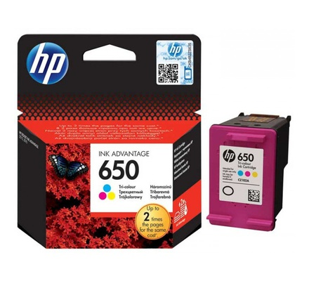 Hp Ink Cartidge 650 Colour