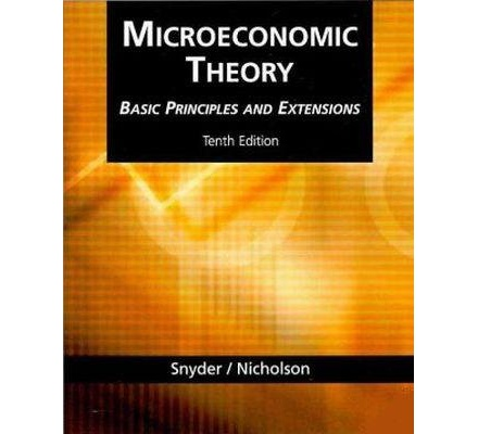 microeconomic theory essay Name date economics midterm exam 1) as long as consumers are concerned with only one good and they do not have to make choice, the life seems simple however, i.