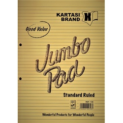 Jumbo Wide Ruled Pad Ref:146