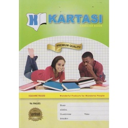Exercise books 96 pages Kartasi Brand, A4 ,Square, Manila Cover