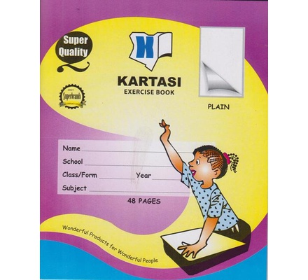 Exercise books 48pages Kartasi Brand Plain Manila Cover