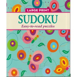 Large Print Sudoku (Green) Easy to Read Puzzles