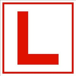 L Plate Label(Learner Sticker)