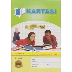 Exercise books 200pages Kartasi Brand A4 Square Manila Cover