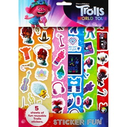 Dream works Trolls World tour Sticker Fun (ALLG)