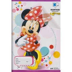 Exercise book 120 pages Disney A4 Square Manila Cover.