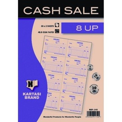 Cash Sale Book with 8 Up 50s