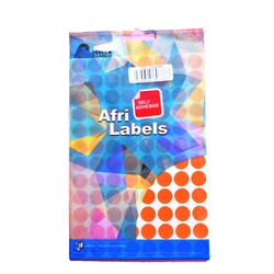 Afri Label coloured - Ordinary K05 Orange